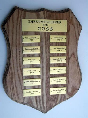Ehrenmitgliedplakette